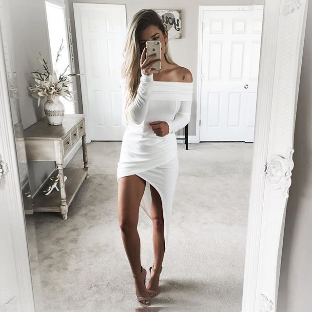 "All white everything  | ""seeking town"" dress from @dollygirlfashion ☁️"