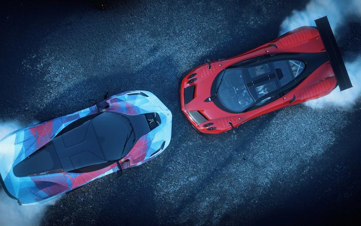 Download Wallpapers Pagani Huayra Ferrari Laferrari 4k Racing Simulator 2018 Games The Crew 2 Besthqwallpapers Com Ferrari Laferrari Pagani Huayra Sports Car Wallpaper