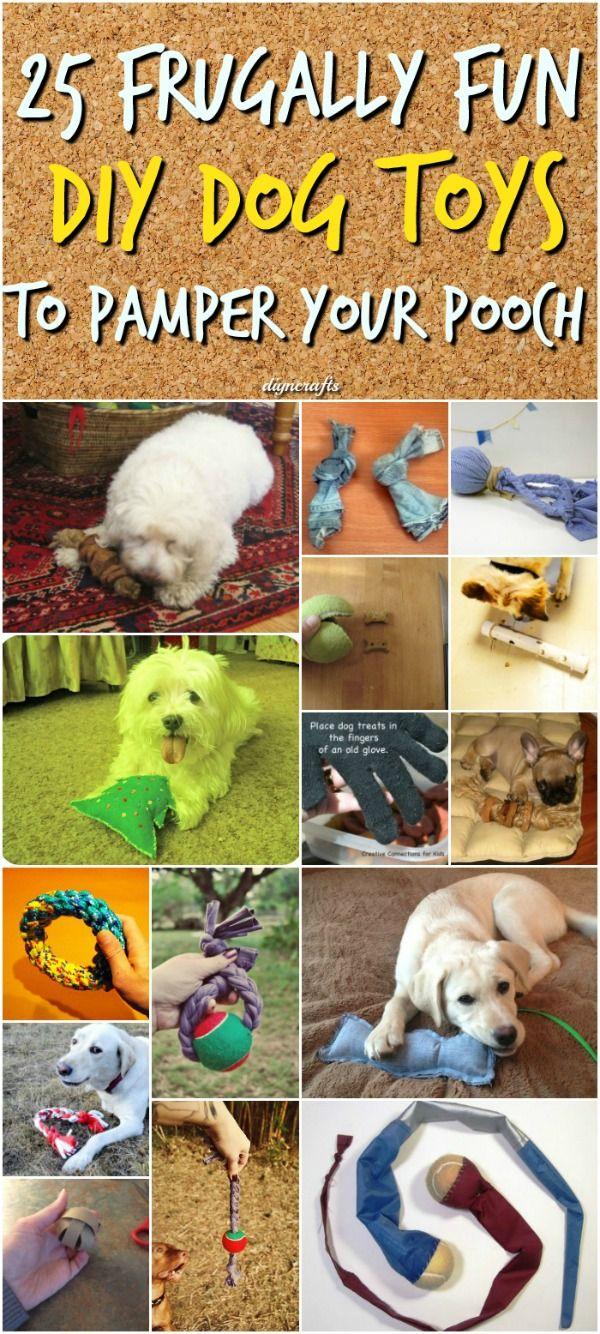 25 Frugally Fun Diy Dog Toys To Pamper Your Pooch Diy Dog Toys