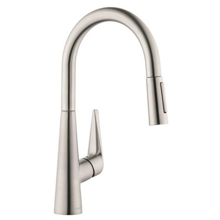 Hansgrohe 72813801 Talis S Single Handle High Arc Pull Down Kitchen Faucet Faucet Brass Faucet Faucet Handles