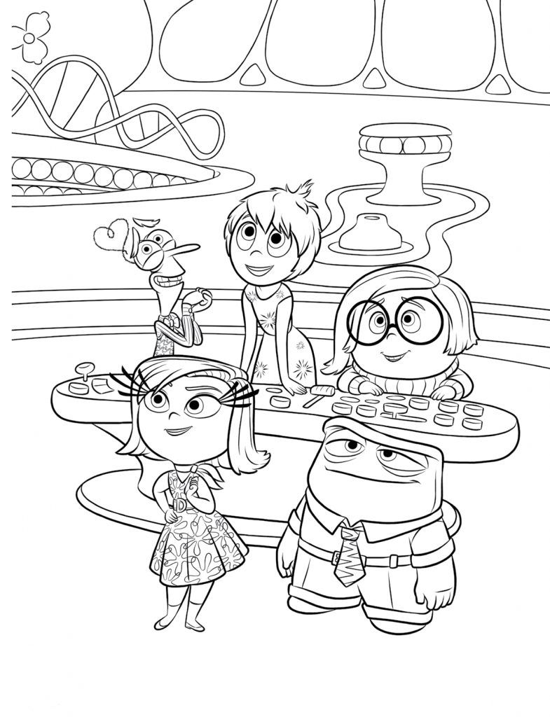 Inside Out Coloring Pages | Disney Coloring Pages | Pinterest