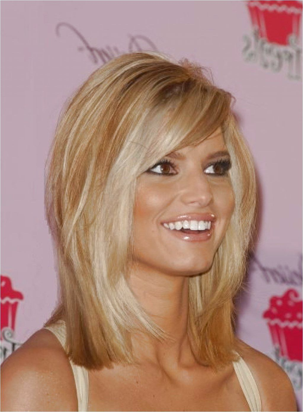 Medium Haircuts Jessica Simpson Long Side Swept Bangs Long Hairstyle Galleries - click on the image or link for more details. #jessicasimpsonhair