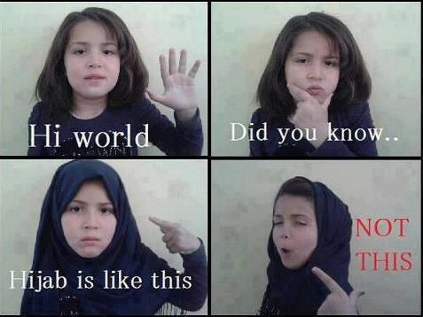 Cute Little Girl Showing The Right Way Wearing Hijab Islam Pinterest Muslim And Islam