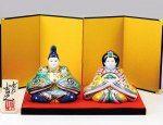 Cuadro de muñecas de cerámica [Nuevo y pronta decisión] Kutani Esmaltes Sho Chiku Bai (con soporte / pantalla plegable / Tatefuda)