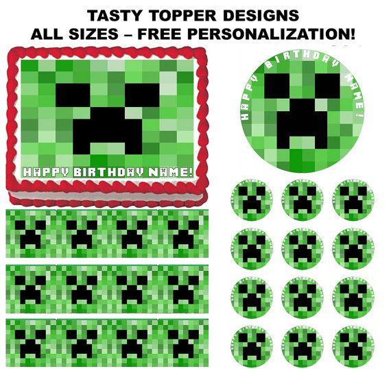 Creeper Face Party Custom Edible Cake Topper Edible Picture Edible