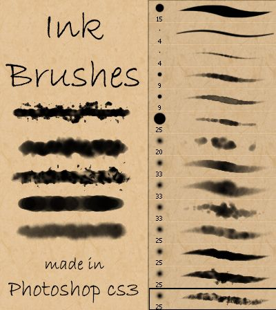 30 Sets Of Free Photoshop Paint Brushes Photoshop Watercolor