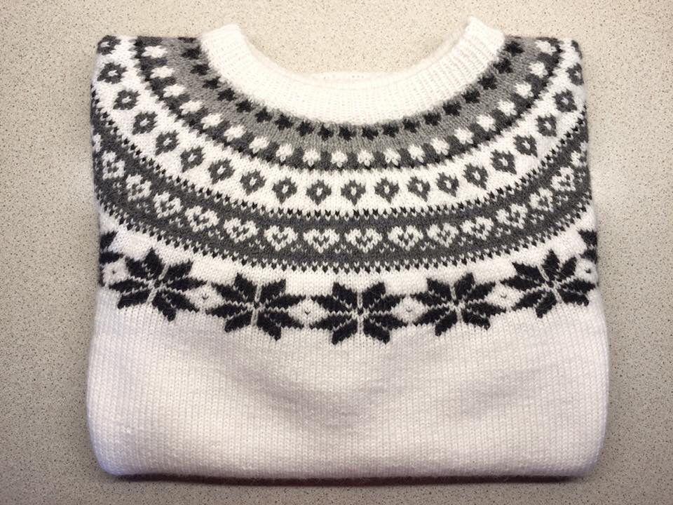 8518dccb Snøhvit genser strikket i sterk fra du store alpakka. | Жакард ...