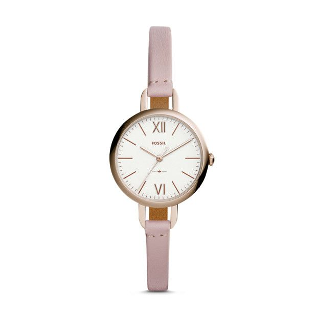 Annette Three-Hand Pastel Pink Leather Watch | Pink leather, Pastel pink  and Pastels