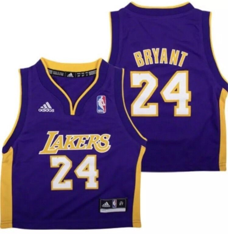 Los Angeles Lakers Kobe Bryant adidas Toddler 2T Purple Road Jersey ... 84ab5656958d