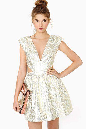 3180a99b0750 ModCloth Silver Short Sleeve Dress