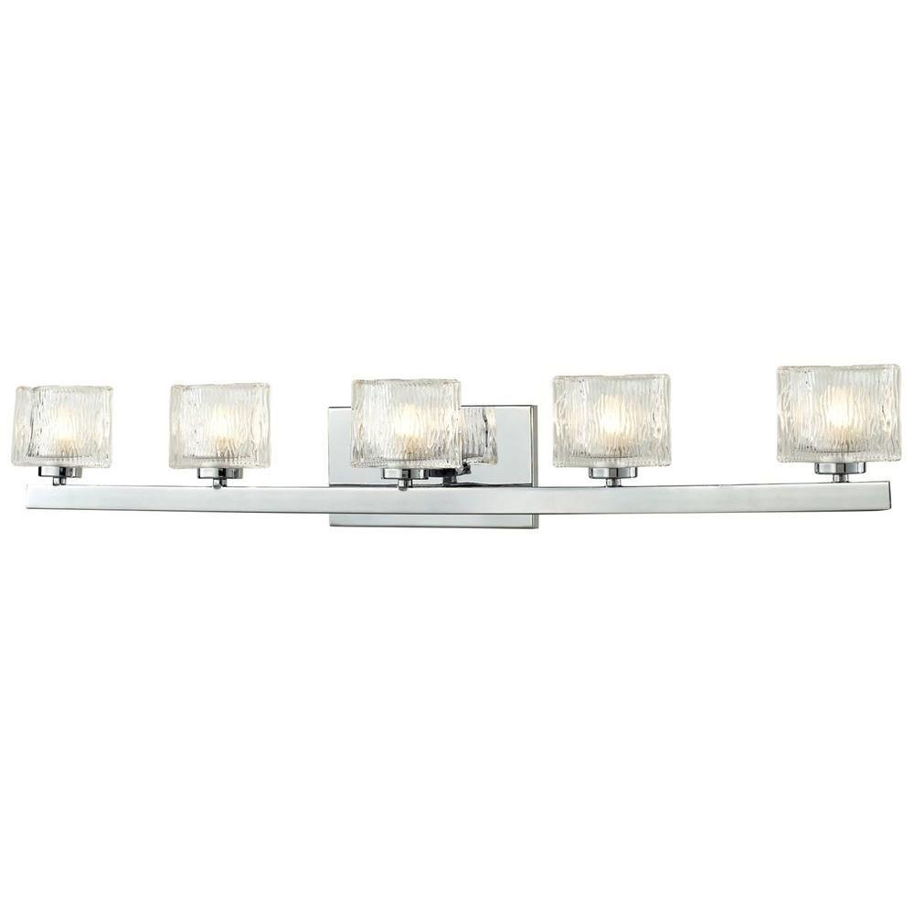 Filament Design Rainfall 5 Light Chrome Bath Vanity Light Cli Jb