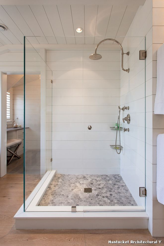 Self Adhesive Floor Tiles For Beach Style Bathroom And Shiplap Style