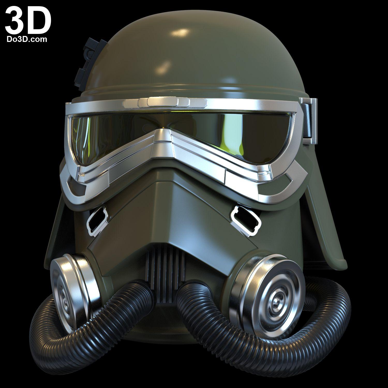 3D Printable Model: MudTrooper Swamp Trooper Helmet from Han Solo: A