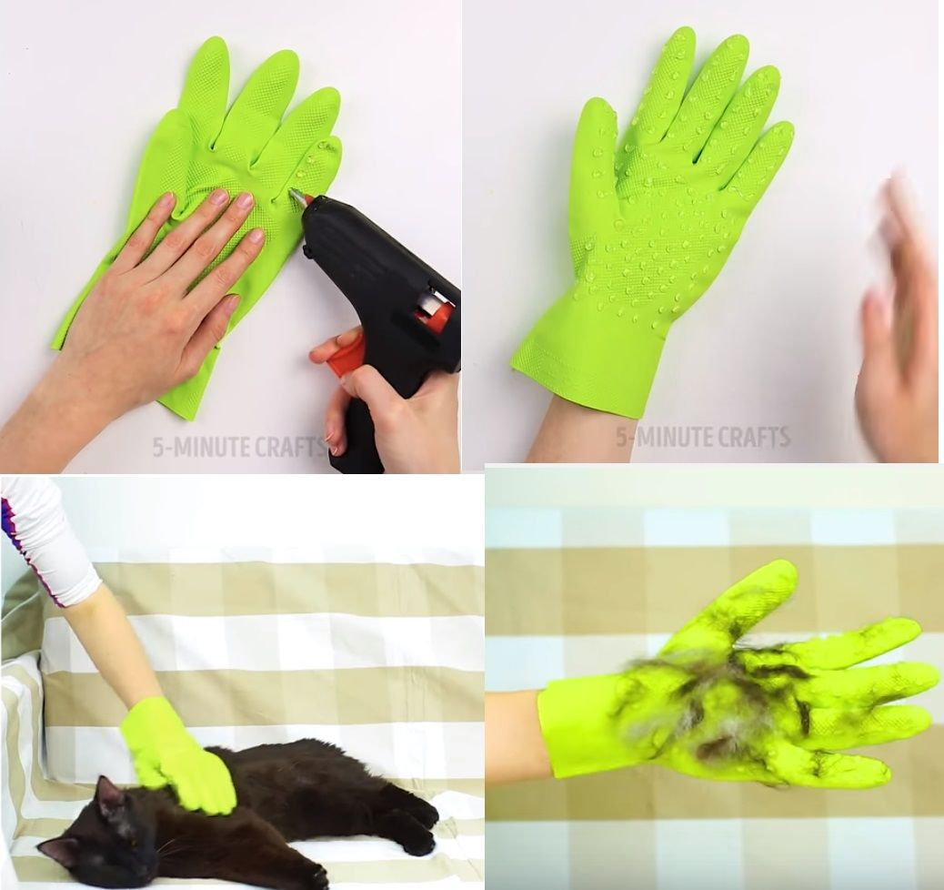 DIY pet grooming gloves  aa82878c5