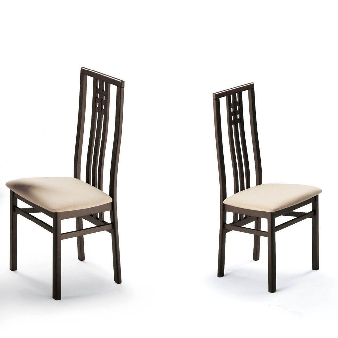 Luca home cappuccino dining chairs set of luca home dining
