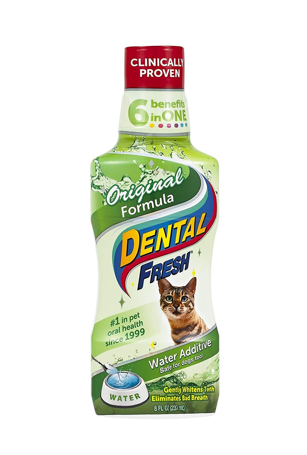 Synergylabs Dental Fresh Water Additive Original Formula For Cats Clinically Proven Simply Add To Cat S Water Bowl To Whi Heal Cavities Dental Gum Disease