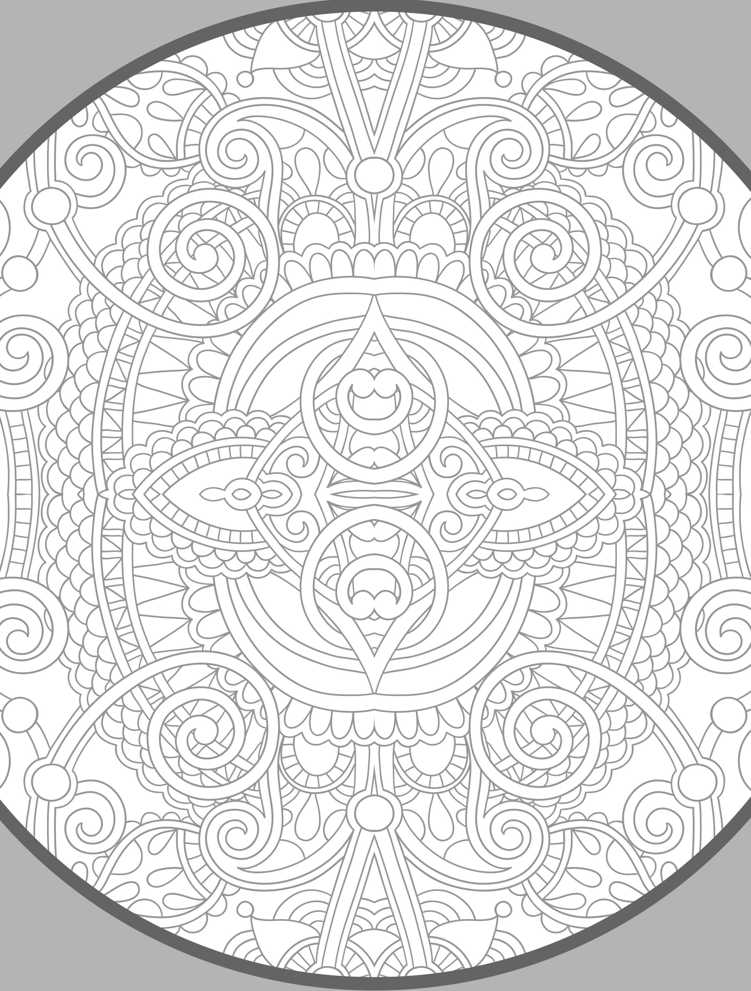 20 Gorgeous Free Printable Adult Coloring Pages | Coloring - Mehndi ...