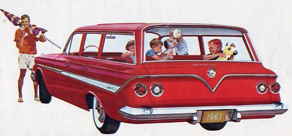 1961 Chevrolet Nomad.