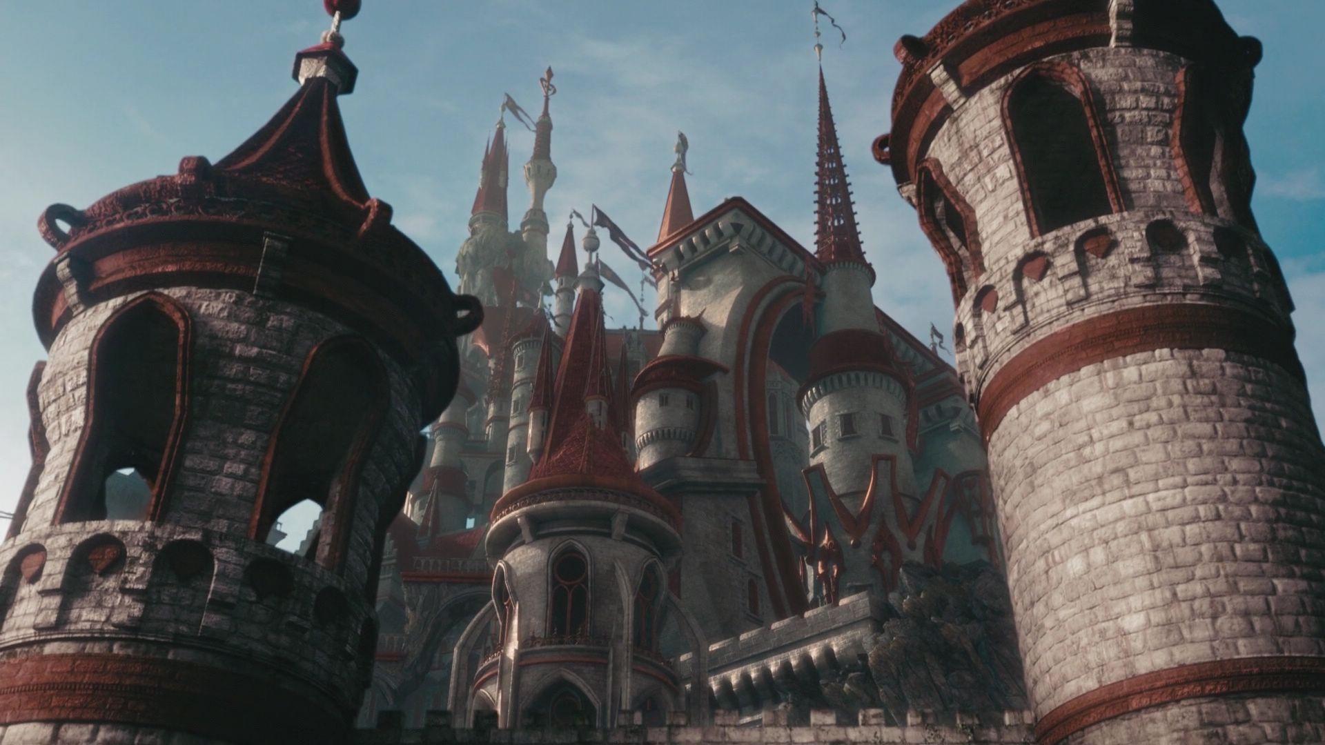 Alice In Wonderland - Red Queen Castle Detail Disney