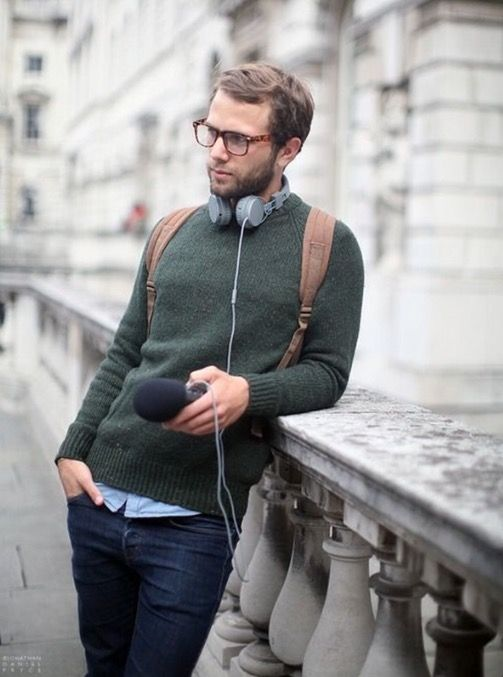 Great colour and texture combos, love this casual look