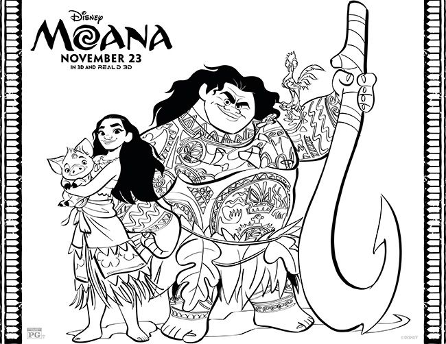 Disney's Moana Coloring Pages + More #Moana (With images) | Moana ...