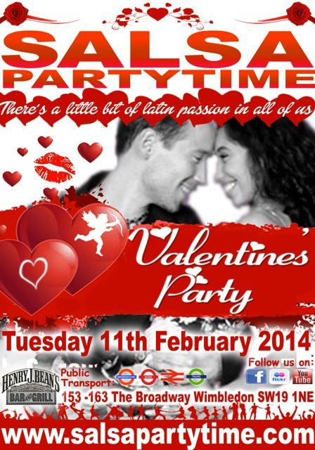 DARLING. MEET ME FOR A NIGHT OF FLAMING PASSION !!! @ THE LOVE FUNCTION ((TUES x SPT (U + I)) = L  on TUESDAY 11th FEBRUARY 2014    When Darling?  TUESDAY 11th February 2014   Where Darling? SalsaPartyTime @ Henry J. Bean's Wimbledon   What Time Darling? 7.45 pm - Midnight.   What Do I Wear Darling? Ladies in Hats and/or Scarves Gentlemen in Sunglasses and/or Bow Ties   Wing Me Darling ! 07710-910667