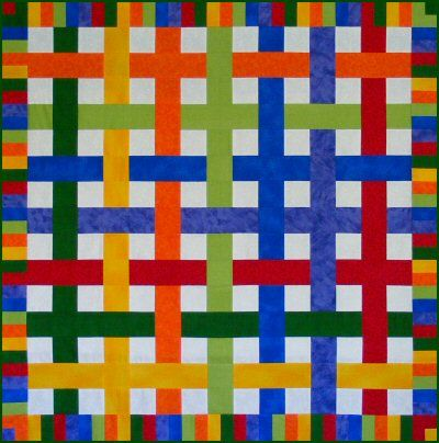 Woven Crayons Quilt Pattern http://www.victorianaquiltdesigns.com/VictorianaQuilters/PatternPage/WovenCrayons/WovenCrayons.htm #quilting