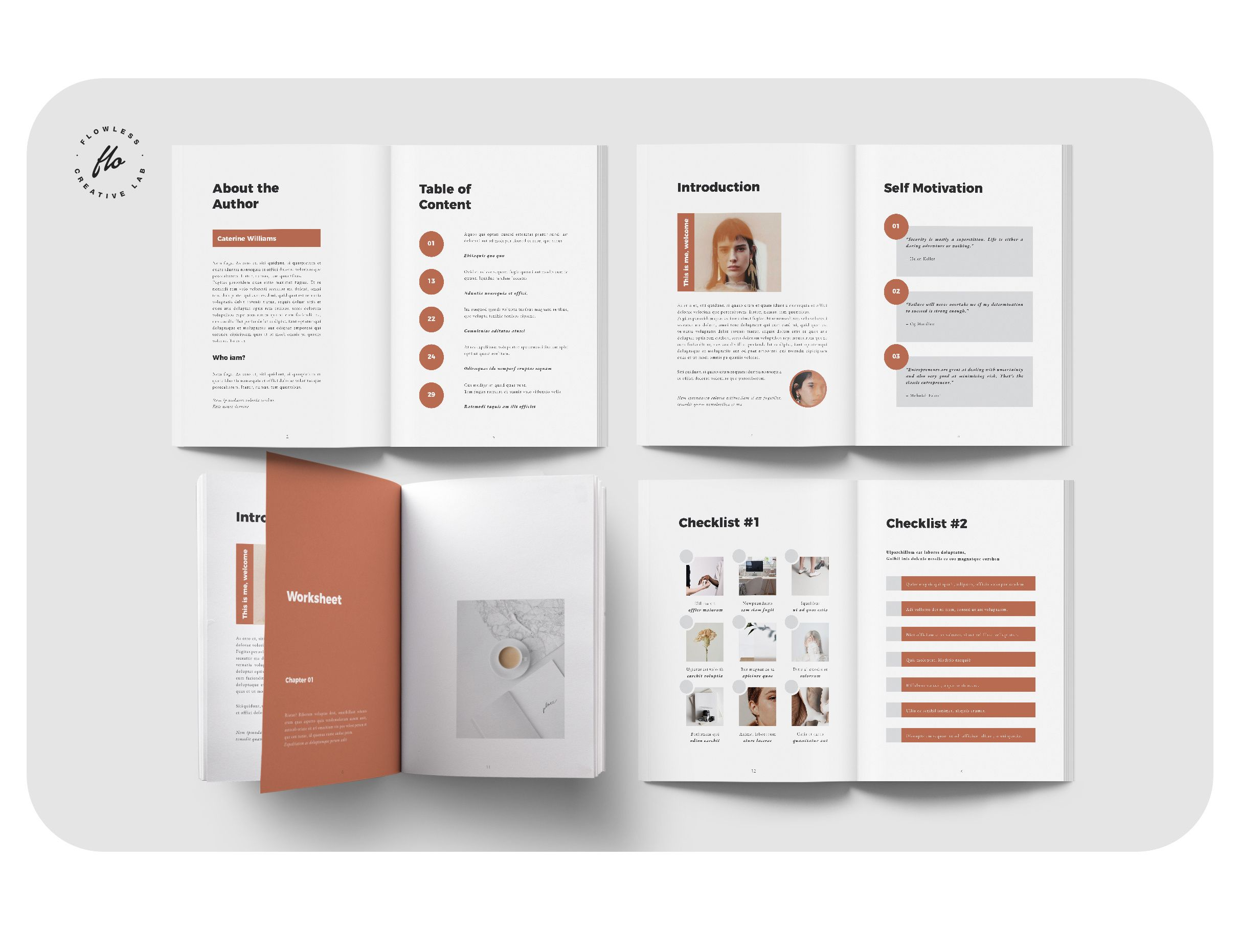 BROWN Creativepreneur Workbook by flowless