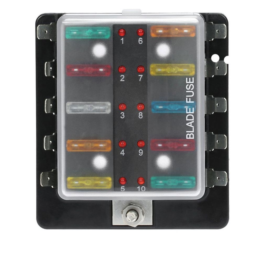 each fuse holder is numbered to make fuse installation and identification  as easy as possible. 10 way fuse box with … | fuse box, led warning lights,  warning lights  pinterest