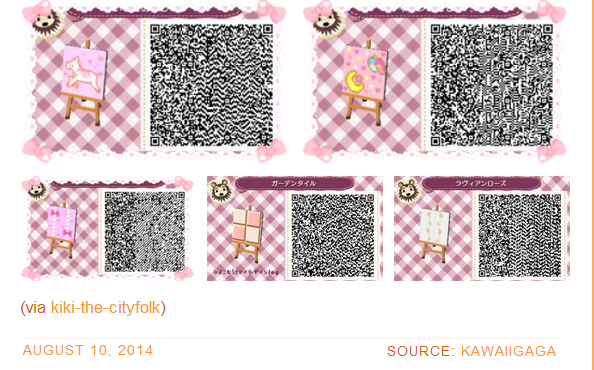Cute Pink Foo Foo Path Set 2 Animal Crossing Qr Codes Clothes