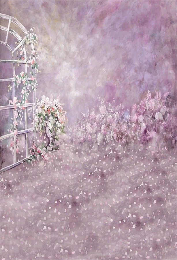 7x7FT Vinyl Photo Backdrops,Floral,Pink Poppy Flowers Art Photo Background for Photo Booth Studio Props