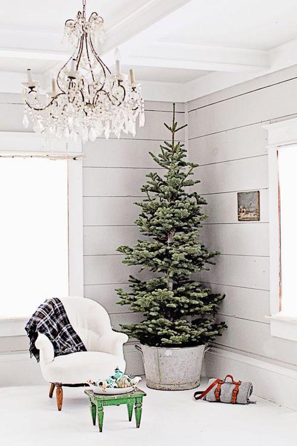 A Bit Of Farmhouse Galvanized Zinc Christmas Decor Christmas Home Country Christmas Trees Farmhouse Christmas Tree