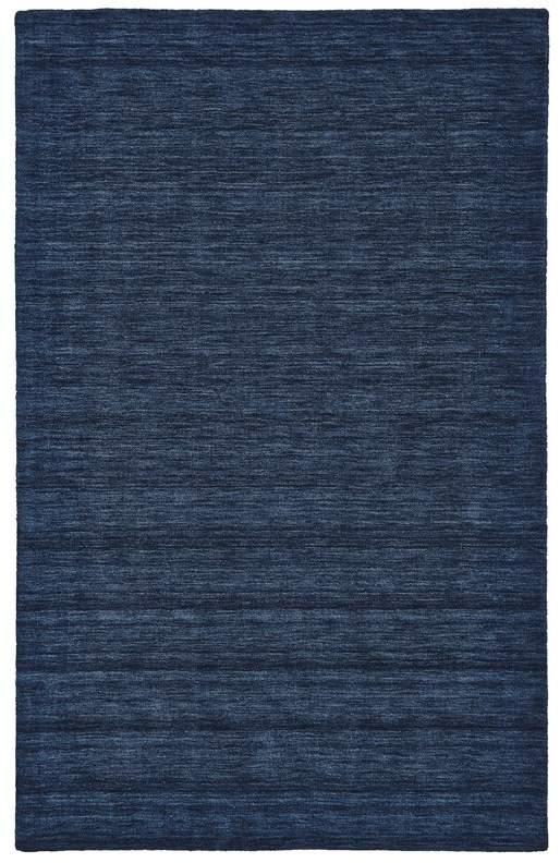 Handwoven Wool Dark Rug