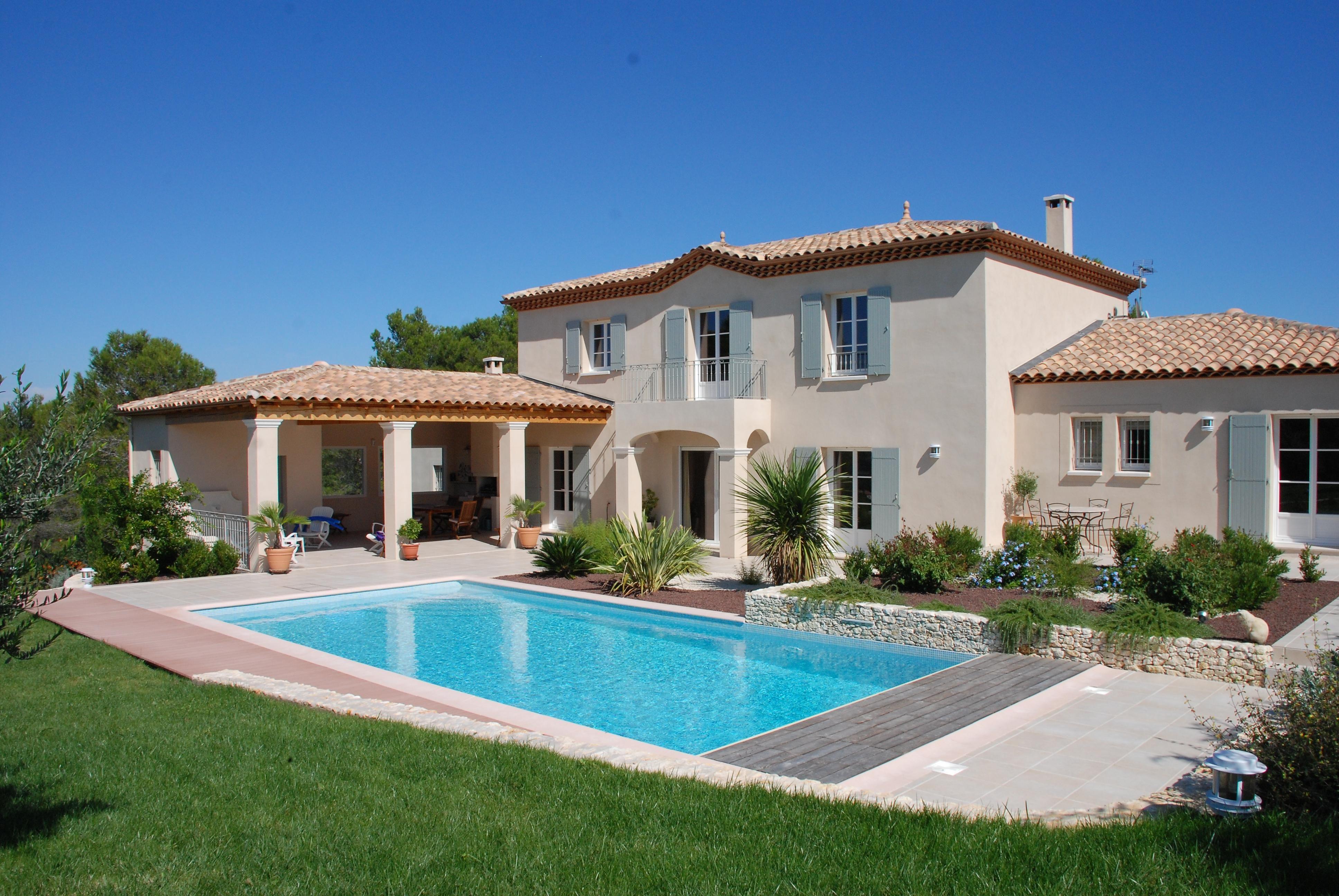 Maison Traditionnelle 200m2 Batie A Saint Siffret Dans Le Gard 55 Jpg 3872 2592 Photo Maison Moderne Maison En Provence Modele Maison Moderne