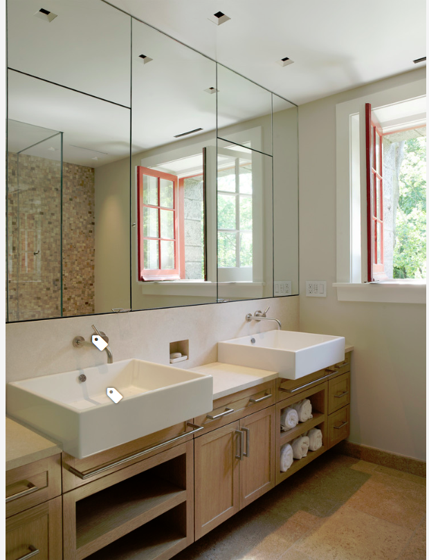 Flush Mirror Front Inset Medicine Cabinets Wall Mount Sink