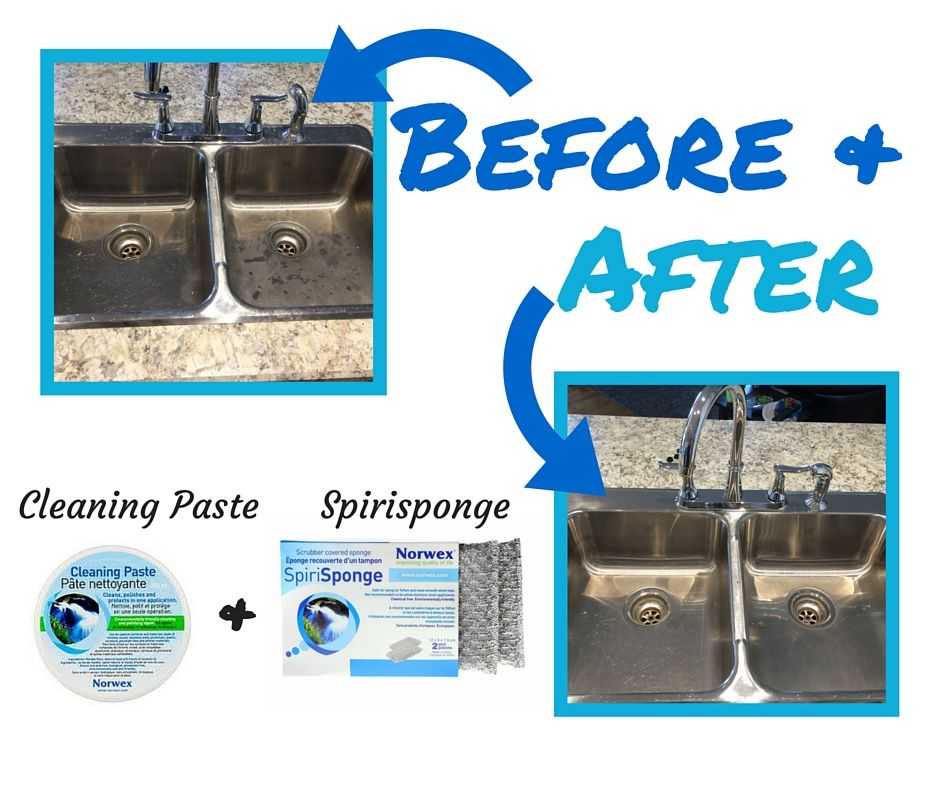 Before And After With The Norwex Cleaning Paste And The