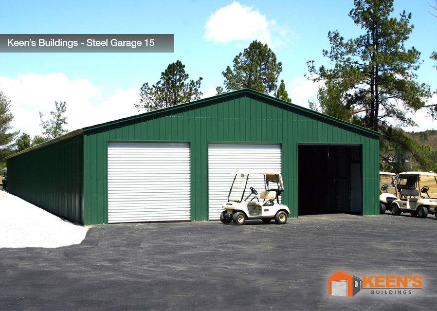 Keens Buildings Steel Garage 15 30W Boxed Eave 3 8×8 Roll