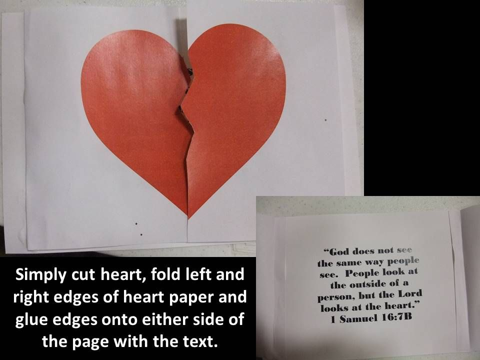 God Looks At The Heart Craft To Go Along With Story Of David