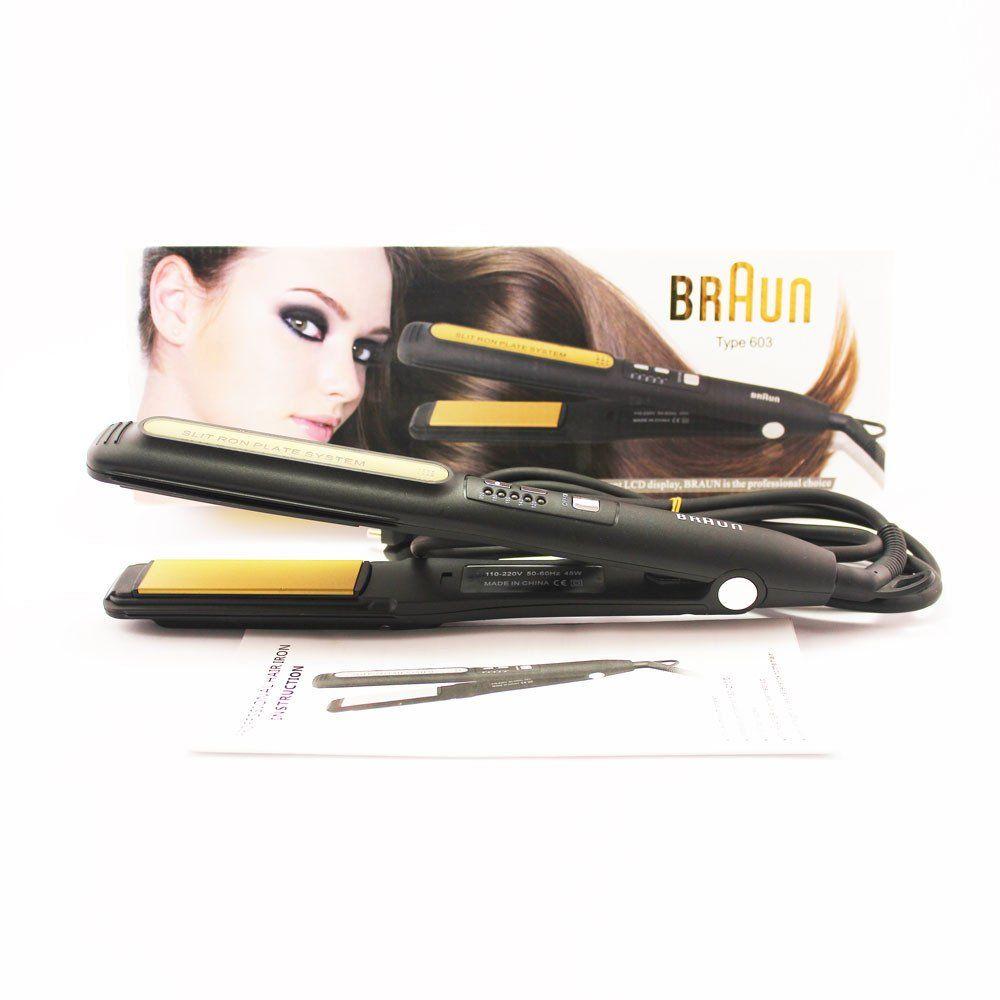 فير و مصفف شعر براون الكترونيات Braun Loqta Ps 4 Hair Straightener Hair Beauty