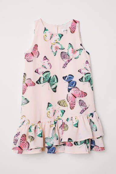 3f20aeaa489 H M Flounced Dress - Pink
