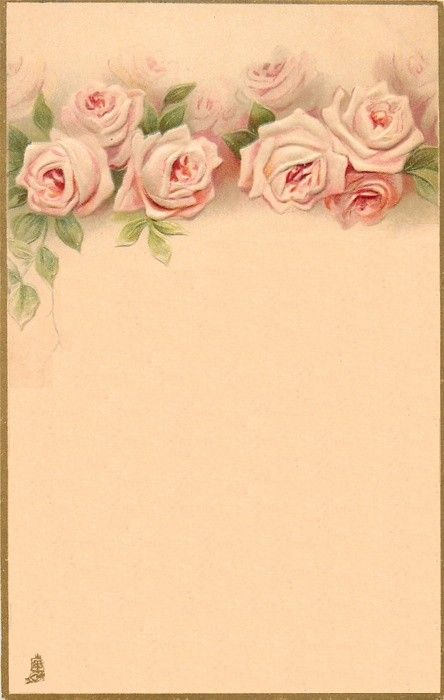 Vintage Roses Background Paper Marco Para Imprimir Manualidades