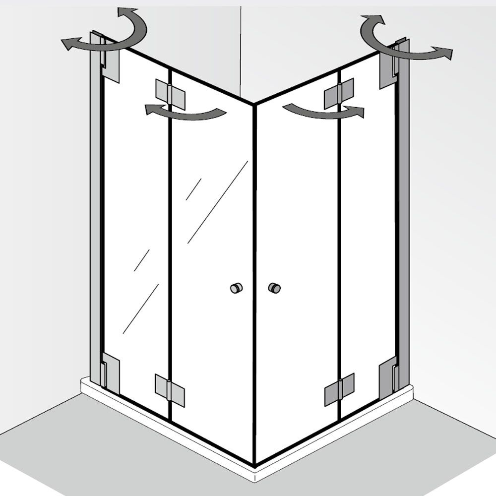 HSK K2P Eckeinstieg mit Drehfalttür Salle de bain