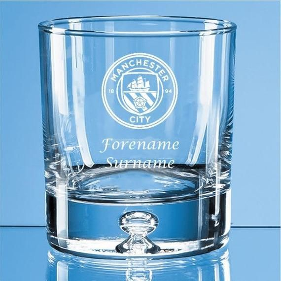 Personalised Old Fashioned Whisky Tumbler CREST Aston Villa F.C