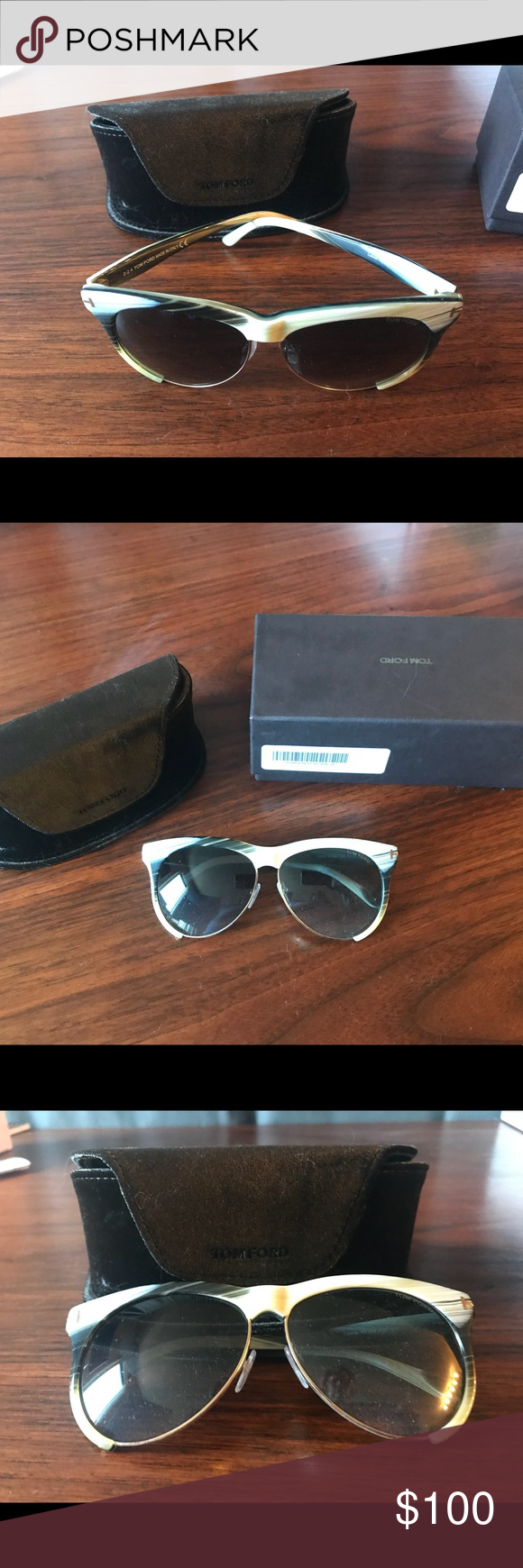 9ffaf5bfe8 Tom Ford Womens Sunglasses Horn Grey Cat Eye Sunglasses. In original  packaging never been worn. mint condition Tom Ford Accessories Sunglasses