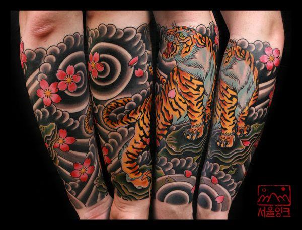 Tattoo By Seoul Ink Tattoo Tiger Forearm Tattoo Tiger Tattoo Sleeve Japanese Tiger Tattoo