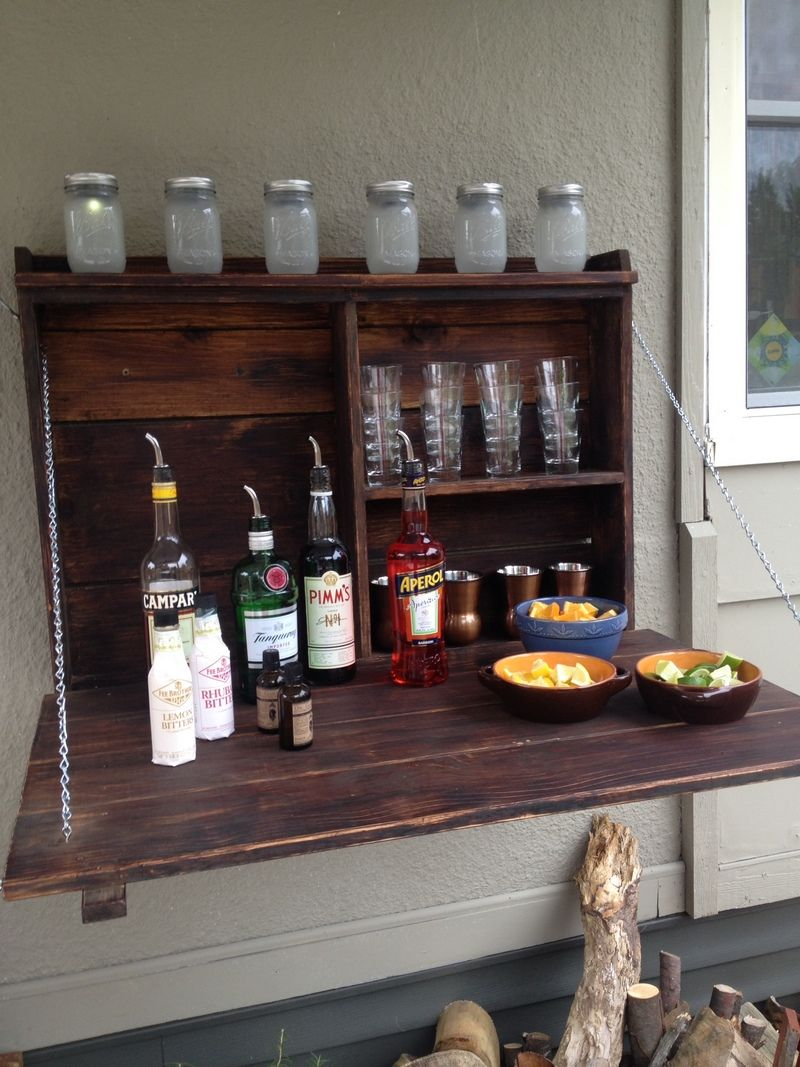 How To Build Your Own Fold Down Murphy Bar With Images Outdoor