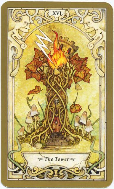 Mystic Faerie Tarot The World: The Tower - Mystic Faerie Tarot