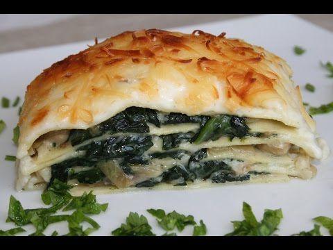 Receta de Lasagna de hongos y espinacas / Lasagna de hongos - YouTube