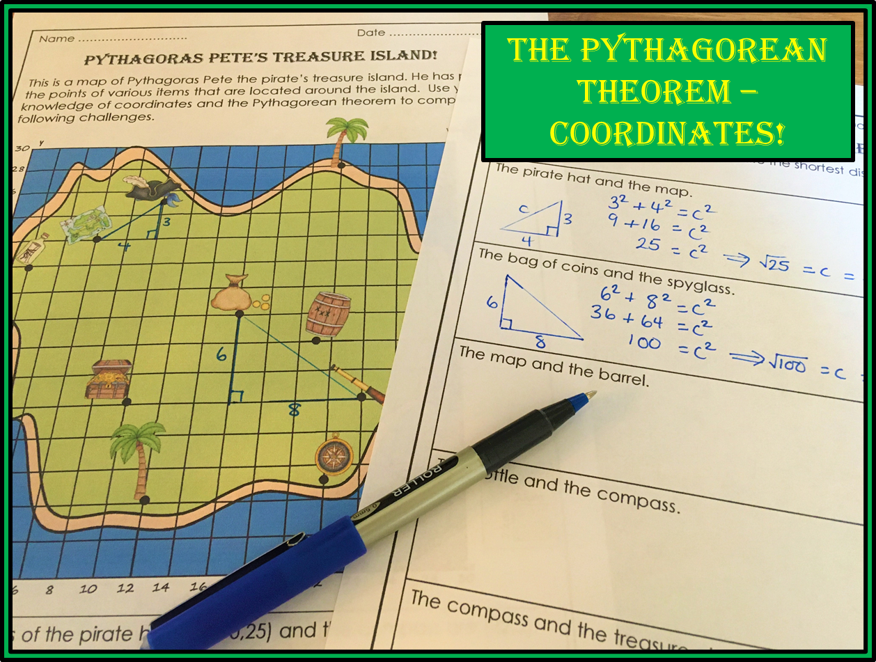 The Pythagorean Theorem On The Coordinate Plane In