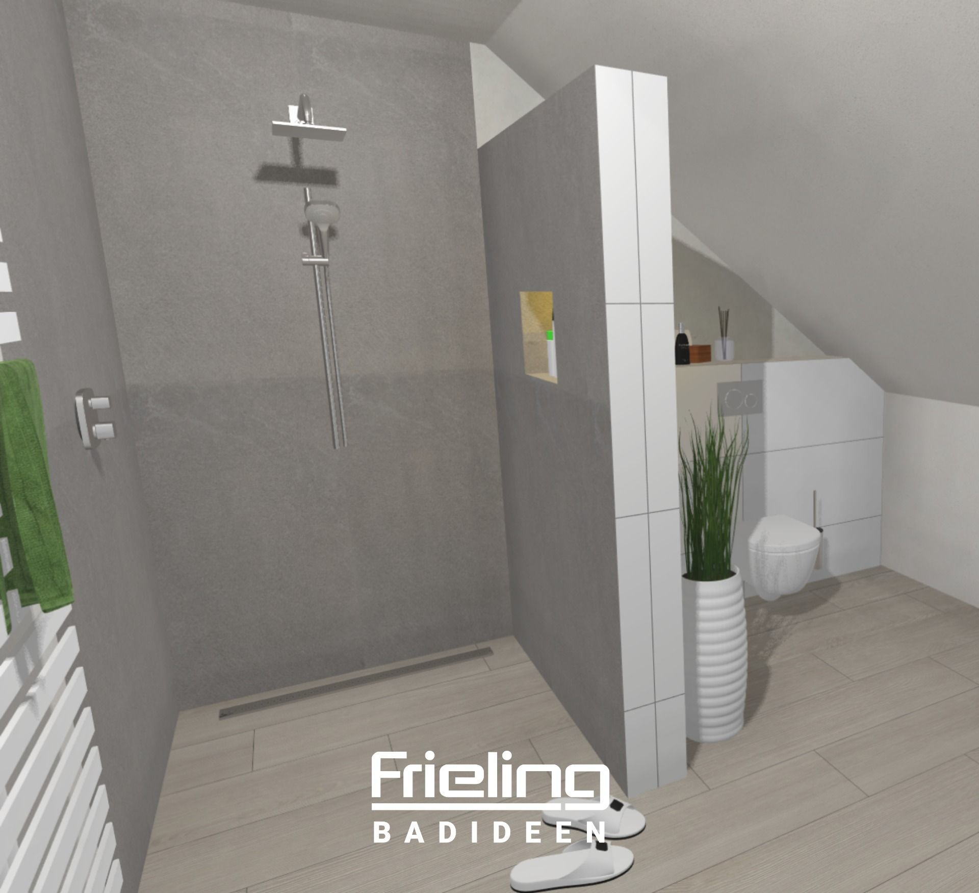 Dachausbau Badezimmer Im Dachgeschoss Schragen Optimal Im Bad Nutzen Badlosung Auf 13 Qm In 2020 Badezimmer Dachgeschoss Bad Mit Dachschrage Badezimmer